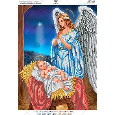 фото: схема для вышивки бисером икона Иисус и ангел