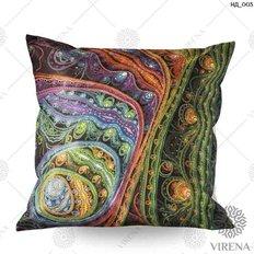 фото: декоративная наволочка для вышивки бисером