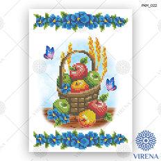 фото: рушник на Спас для вышивания бисером, Фрукты