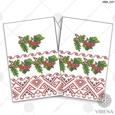 фото: рушник свадебный для вышивания бисером, Калина и жёлуди