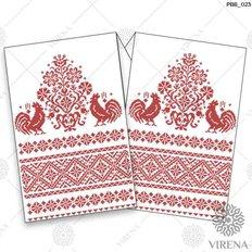 фото: рушник свадебный для вышивания бисером, Красный орнамент