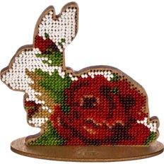 фото: набор для вышивки бисером по дереву, пасхальное украшение