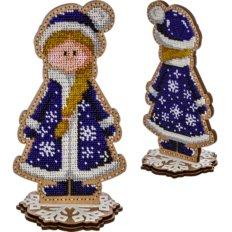 фото: набор для вышивки бисером по дереву, Снегурочка