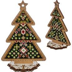 фото: набор для вышивки бисером по дереву, Ёлочка