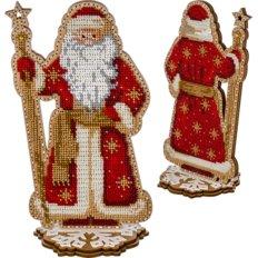 фото: набор для вышивки бисером по дереву, Дед Мороз