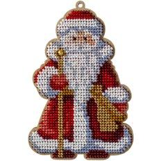 фото: набор для вышивки бисером по дереву, Ёлочное украшение