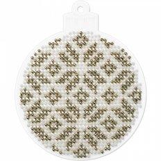фото: елочное украшение  для вышивки бисером на пластиковой основе