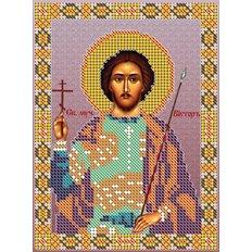 изображение: именная икона для вышивки бисером, Св. Мч. Виктор