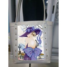 фото: пошитая сумка для вышивки бисером с картинкой цветы