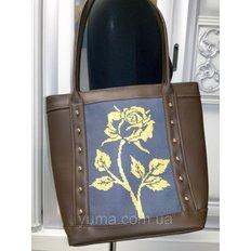 фото: пошитая сумка для вышивки бисером с картинкой роза