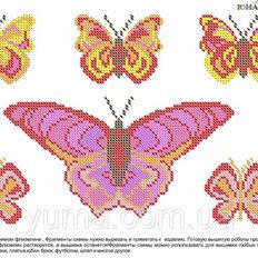 фото: схема для вышивки бисером или нитками на водорастворимом флизелине