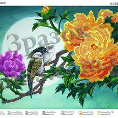 фото: картина для вышивки бисером, птицы