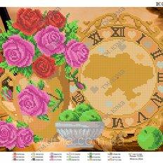 фото: часы для вышивки бисером, схема