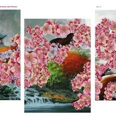 фото: модульная картина для вышивки бисером, весна на востоке