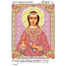изображение: икона для вышивки бисером Св. Муч. Любовь