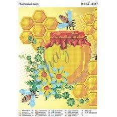 Схема для вышивки бисером Пчелиный мед