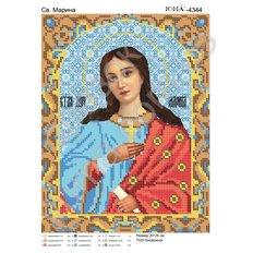 изображение: именная икона для вышивки бисером, Св. Марина
