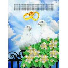 фото: Свадебная метрика Голубки для вышивки бисером