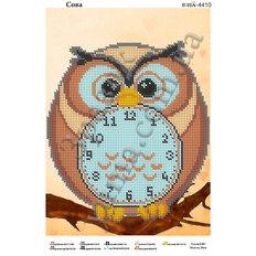 фото: Часы Сова для вышивки бисером, схема