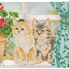 фото: картина для вышивки бисером Котята