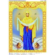 изображение: икона для вышивки бисером, Покров Пресвятой Богородицы