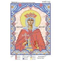 Схема для вышивки бисером Святая Августа