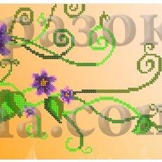 Схема для вышивки бисером Цветы - часы