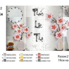 фото: модульная картина для вышивки бисером, орхидеи в вазах