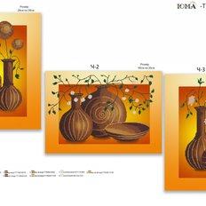 фото: модульная картина для вышивки бисером, Вазы
