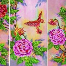 фото: модульная картина для вышивки бисером, Пионы