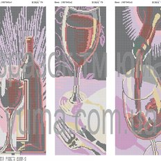 фото: модульная картина для вышивки бисером, Вино