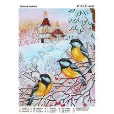 фото: картина для вышивки бисером, Зимний пейзаж