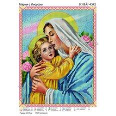 фото: картина для вышивки бисером, Мария Иисусом