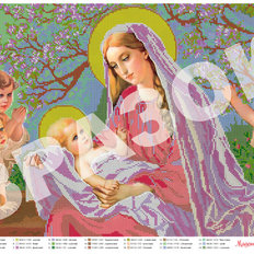 картина для вышивки бисером Мадонна