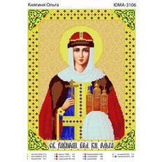 изображение: икона для вышивки бисером, Св. Ольга