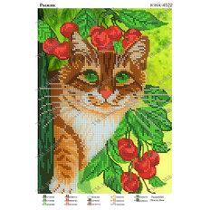 фото: картина для вышивки бисером котик