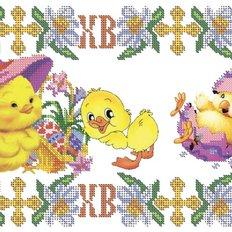 фото: схема для вышивки салфетки, Детская пасхальная салфетка