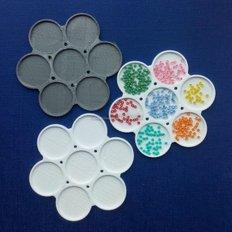 Органайзер для набора бисера на палитре, 7 ячеек, диаметр 9 см