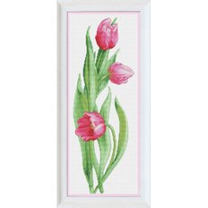 Набор для вышивки крестом Розовые тюльпаны