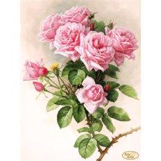 Схема для вышивки бисером Английские розы